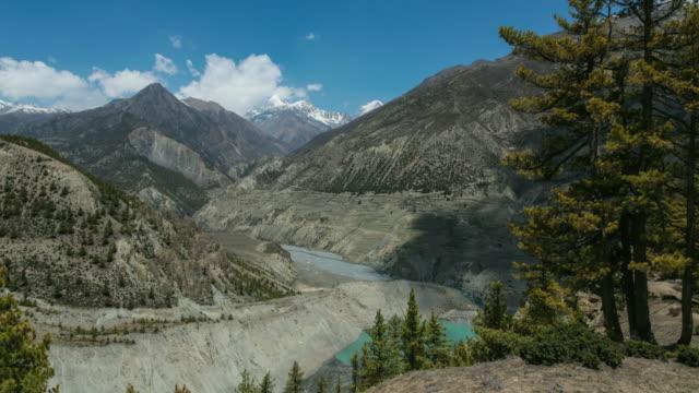 4K Video time-lapse van het Annapurna gebergte, Himalaya, Nepal