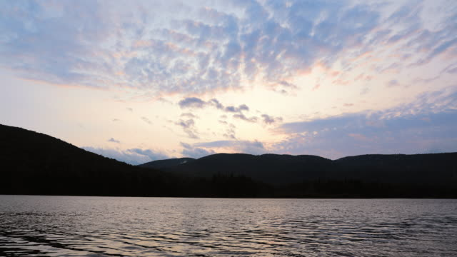 4K Video Time Lapse of Sunset at Monroe Lake, Tremblant, Quebec, Canada