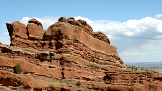 HD video tIme lapse Red Rocks cloudscape Colorado