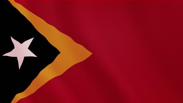 vidéos et rushes de 4 k vidéo : timor oriental agitant le drapeau - papier peint