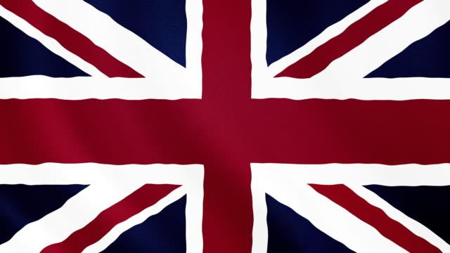 4-k video : united kingdom waving flag - interconnect plug stock videos & royalty-free footage