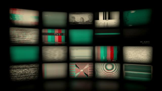 vídeos de stock, filmes e b-roll de fundo parede de vídeo. versão vintage (circulares - parede de vídeo
