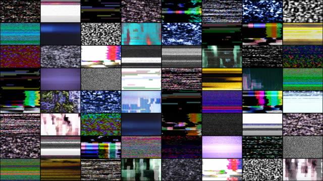 vídeos de stock e filmes b-roll de video wall: malfunction - psicodélico