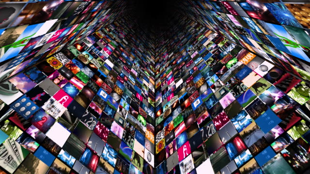 video wall media stream (hd loop) - projection screen stock videos and b-roll footage