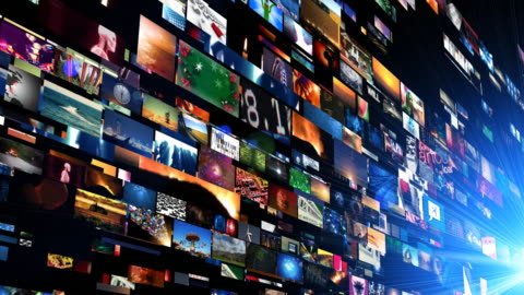 video wall streams in motion - the media stock videos & royalty-free footage