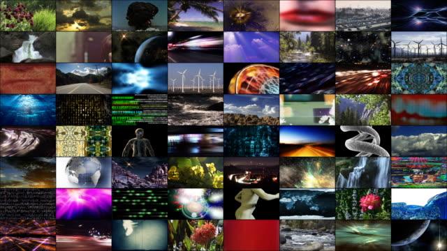 vídeos de stock, filmes e b-roll de video wall: variety - parede de vídeo