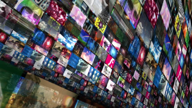 video walls 3d montage - video wall stock videos & royalty-free footage