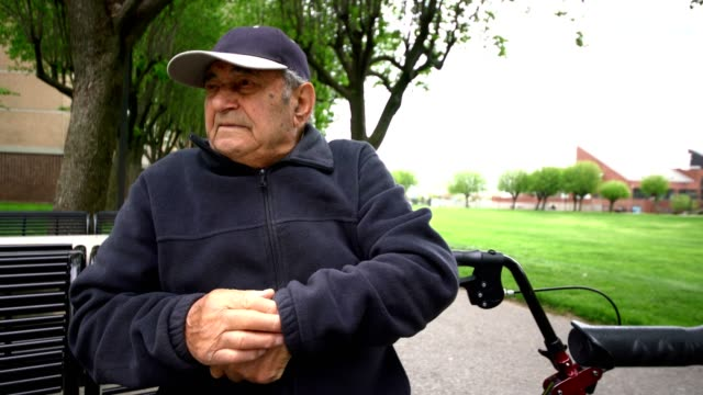 videoportrait of 90-years-old senior man - video portrait stock videos & royalty-free footage