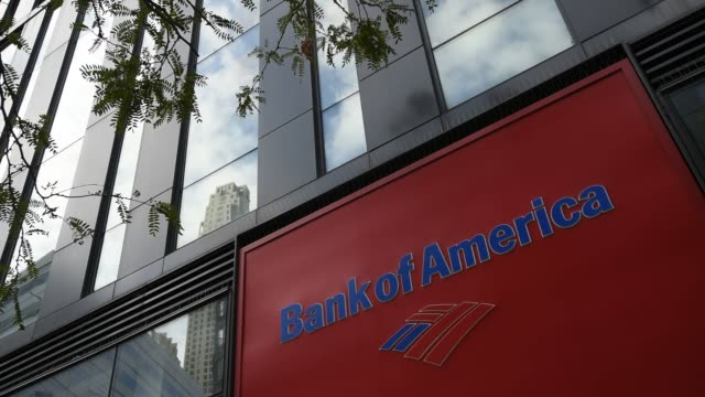 videos taken at bank of america in manhattan for upcoming bank earnings in new york ny on october 7 2016 shots exterior shot of bank of america... - bank of america stock videos & royalty-free footage