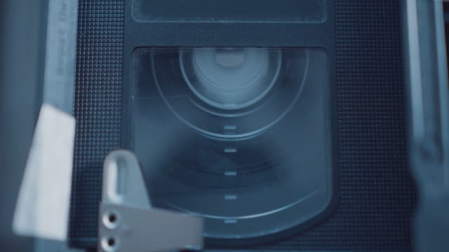 videotape rewinding inside an old vcr home video player on july 21, 2020. - electrical equipment stock videos & royalty-free footage