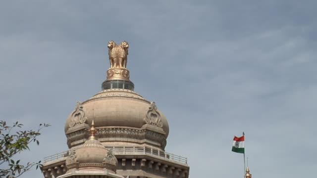 ws zo vidhana soudha government building/ bangalore, karnataka, india - indian politics stock videos & royalty-free footage