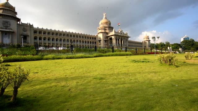 vidhana soudha - parliament building stock videos & royalty-free footage
