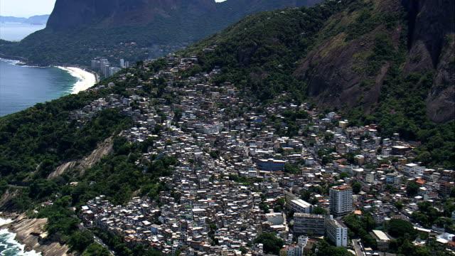 Vidigal Favelas-Luftaufnahme-Rio de Janeiro, Rio de Janeiro, Brasilien