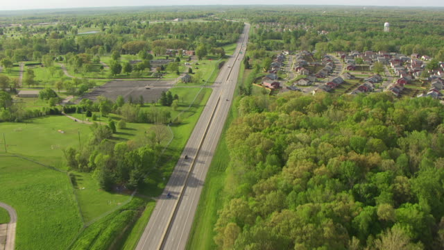ws aerial vie over dixie highway / fort knox, kentucky, united states - kentucky stock videos & royalty-free footage