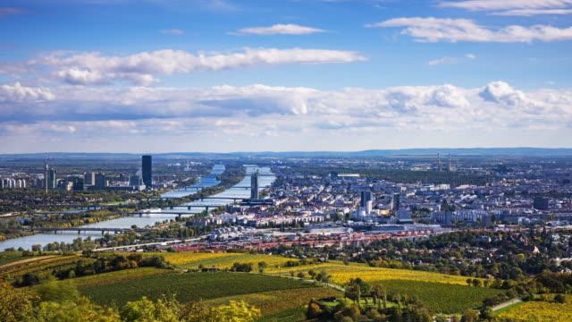 vienna aerial view - vienna stock videos & royalty-free footage