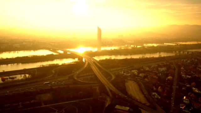 vienna at sunset - vienna stock videos & royalty-free footage