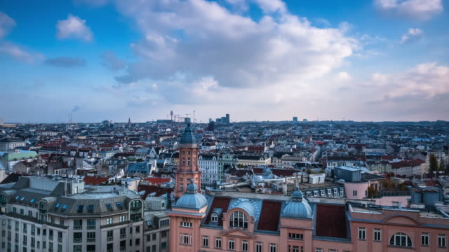 vienna cityscape time lapse - vienna stock videos and b-roll footage