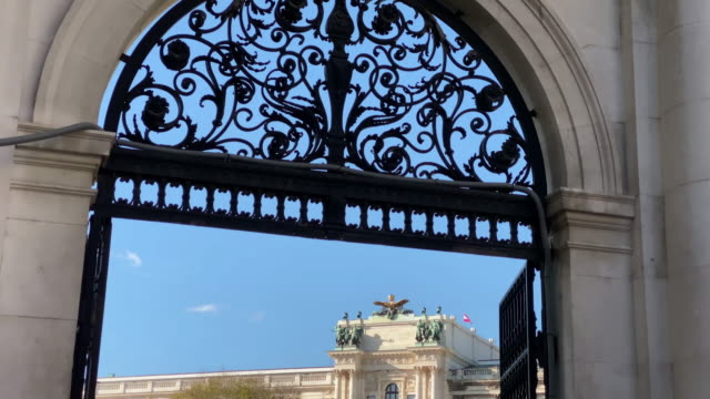 vienna entrance castle garden - the hofburg complex stock videos & royalty-free footage