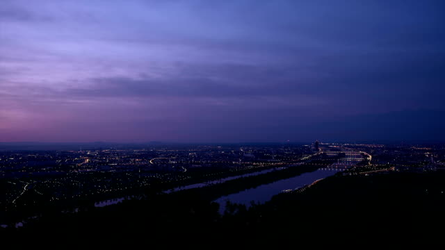 vienna from night to day - time lapse - vienna austria stock videos & royalty-free footage