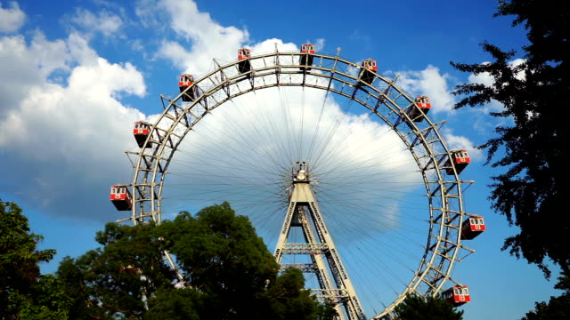 vienna giant wheel - prater park stock videos & royalty-free footage