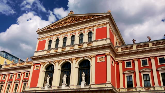 wiener musikverein - vienna austria stock videos & royalty-free footage