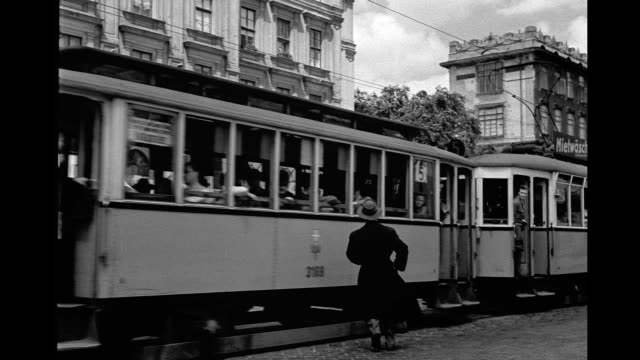 1946 - vienna streetcar - tram stock videos & royalty-free footage