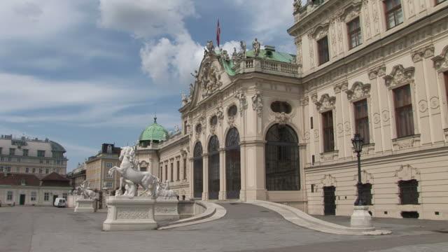 viennabelvedere castle in vienna austria - traditionally austrian stock videos & royalty-free footage