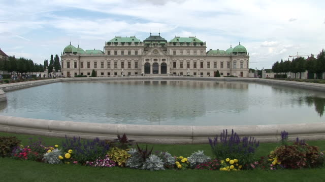 viennabelvedere castle in vienna austria - traditionally austrian stock videos & royalty-free footage