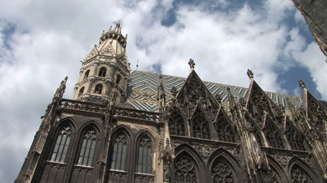 viennaclose view of a cathedral in vienna austria - 宗教施設点の映像素材/bロール
