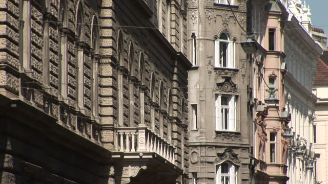 viennaclose view of buildings in vienna austria - traditionally austrian stock videos & royalty-free footage