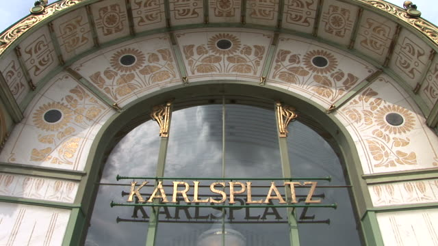 viennaclose view of karlsplatz subway pavilion in vienna austria - traditionally austrian stock videos & royalty-free footage