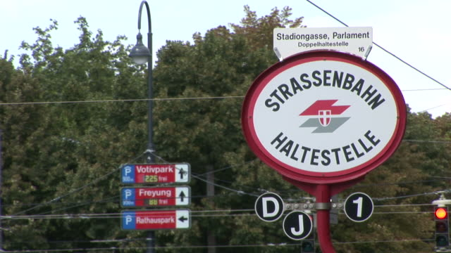 viennaclose view of signboard in vienna austria - traditionally austrian stock videos & royalty-free footage