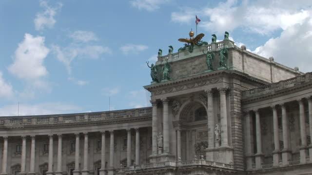 viennaclose view of vienna hofburg in vienna austria - österreichische kultur stock-videos und b-roll-filmmaterial