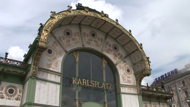 viennakarlsplatz subway pavilion in vienna austria - traditionally austrian stock videos & royalty-free footage