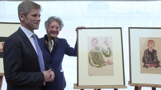viennas famous leopold museum settles a long running feud over five nazi plundered drawings by austrian painter egon schiele with the descendants of... - austrian culture stock videos and b-roll footage