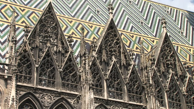 viennaview of a cathedral in vienna austria - 宗教施設点の映像素材/bロール
