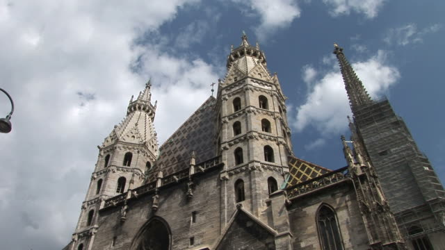 viennaview of a cathedral in vienna austria - traditionally austrian stock videos & royalty-free footage