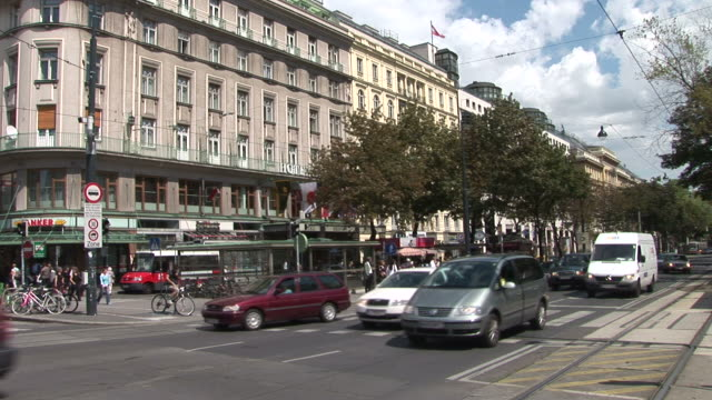 viennaview of a street in vienna austria - austrian culture stock videos & royalty-free footage
