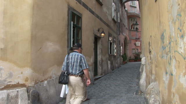 viennaview of an old street in vienna austria - traditionally austrian stock videos & royalty-free footage