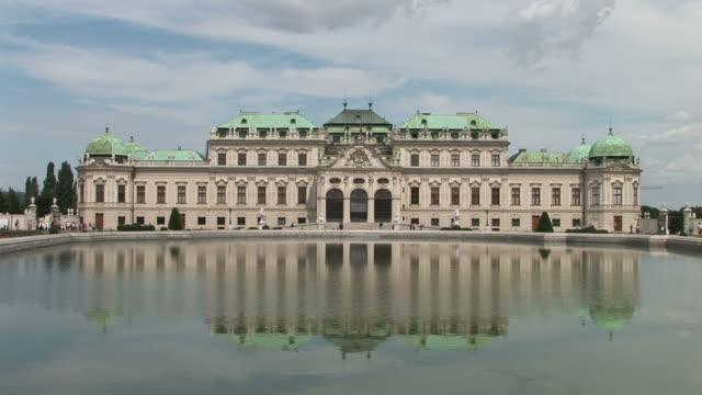 viennaview of belvedere castle in vienna austria - belvedere palace vienna stock videos & royalty-free footage