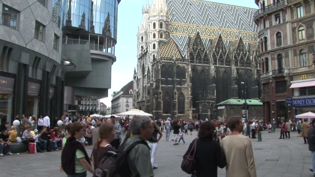 viennaview of cathedral in vienna austria - traditionally austrian stock videos & royalty-free footage