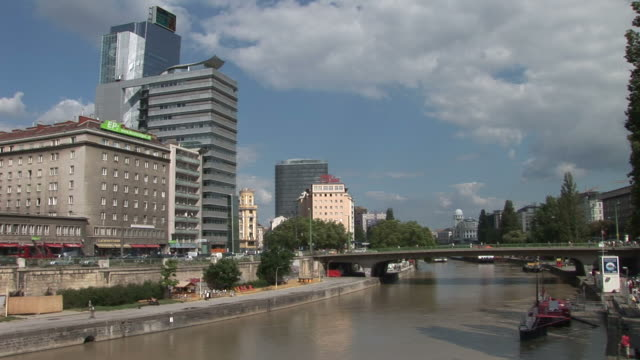 viennaview of donaukanal in vienna austria - traditionally austrian stock videos & royalty-free footage