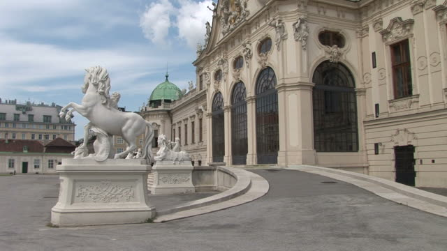 viennaview of entrance of belvedere castle in vienna austria - belvedere palace vienna stock videos & royalty-free footage