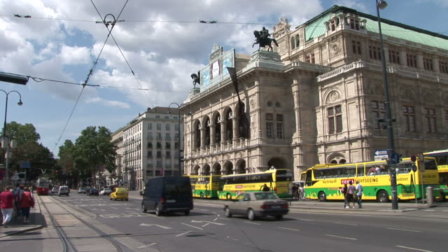 viennaview of opera house in vienna austria - traditionally austrian stock videos & royalty-free footage