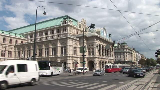ViennaView of Opera House in Vienna Austria