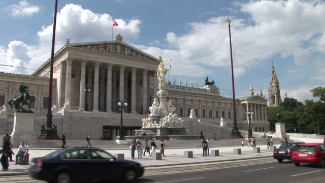 viennaview of parliament in vienna austria - austrian culture stock videos & royalty-free footage