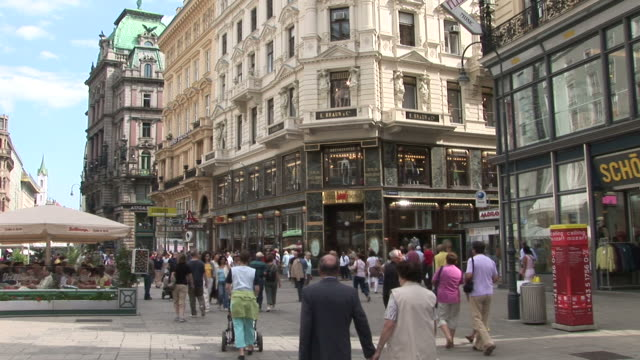 viennaview of pedestrian zone in vienna austria - traditionally austrian stock videos & royalty-free footage
