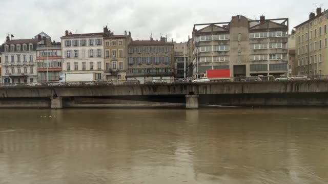 vienne france traffic time lapse - rhone river stock videos & royalty-free footage