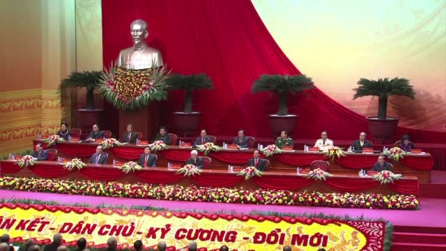 vietnam begins a crucial political transition as the five yearly communist party congress convened to pick new leaders who will face challenges... - communist party stock videos and b-roll footage