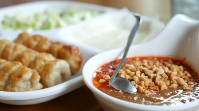 vietnam food , vietnamese meatball wrap - traditionally vietnamese stock videos & royalty-free footage